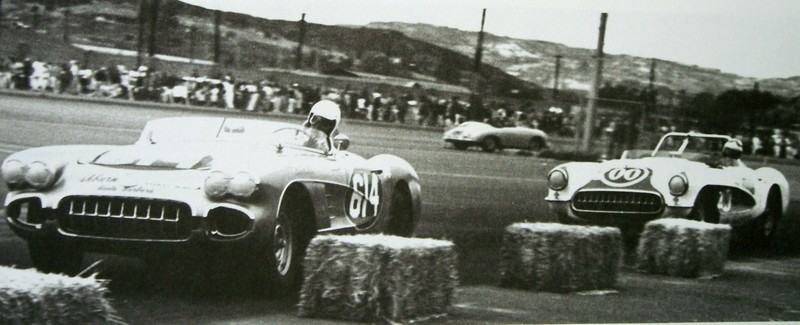 Dave MacDonald leads bob bondurant, Buford Lane, Scott Briley and Jay Hills at del mar 1960