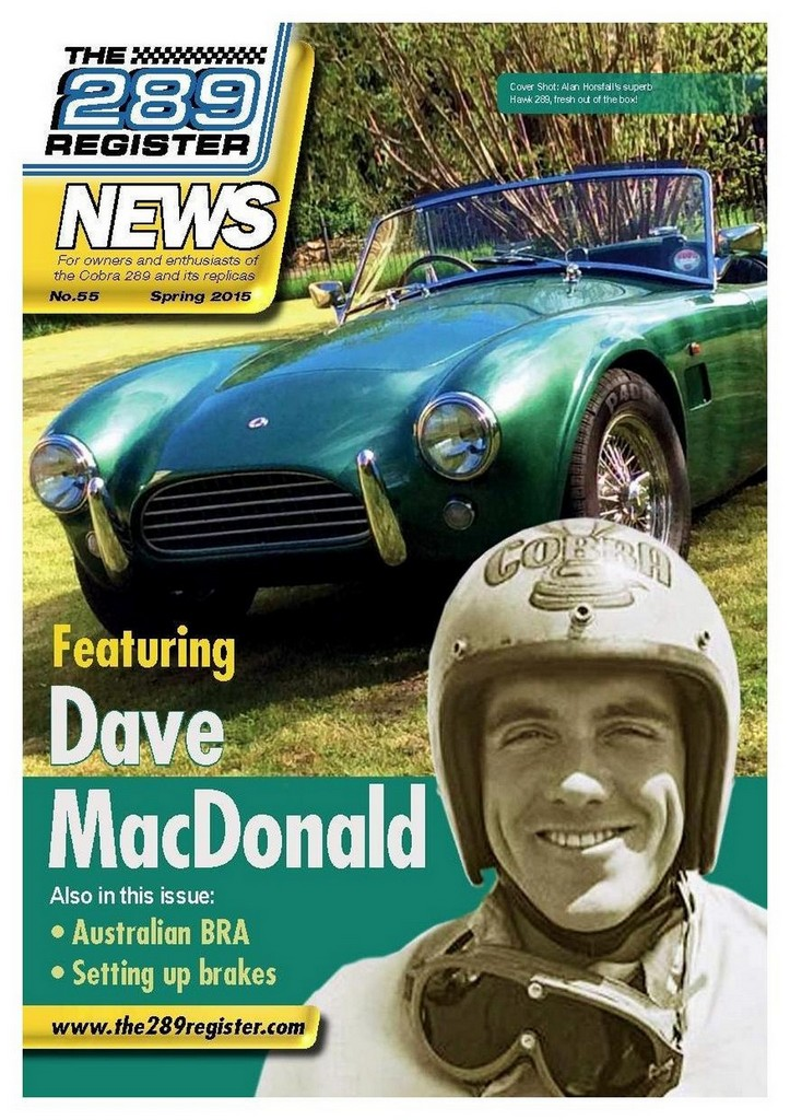 Dave MacDonald Magazine articles and coversovers