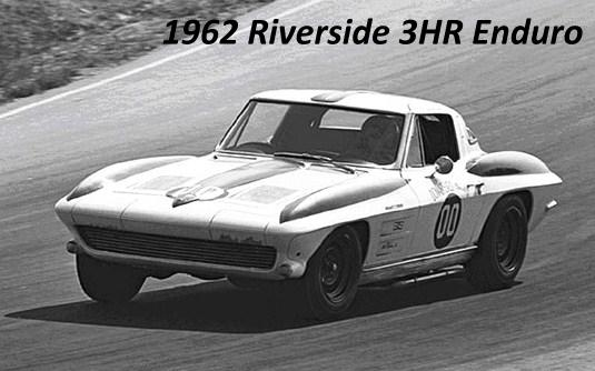 Racer Dave MacDonald in 1963 Z06 Stingray at Riverside