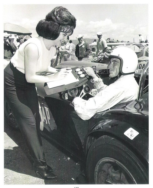 Dave MacDonald with race queen Sharon Brace after win at Cotati 1963