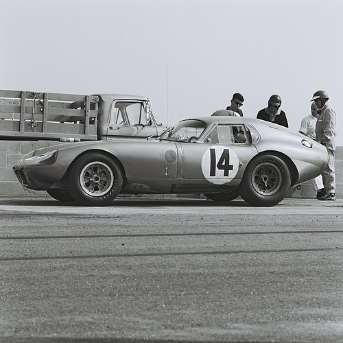 Racer Dave MacDonald helped with construction of Shelby Cobra Daytona Coupe CSX2287