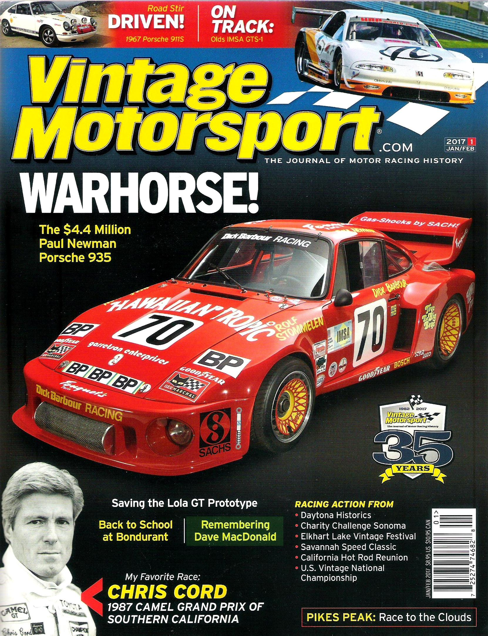 Racer Dave MacDonald featured in Jan/Feb 2017 Issue of Vintage ...