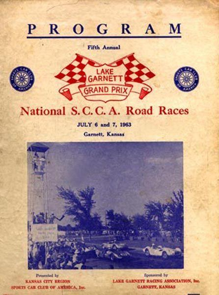 Dave MacDonald drives Shelby Cobra #97 to a 2nd place finish at Lake Garnet Kansas in 1963