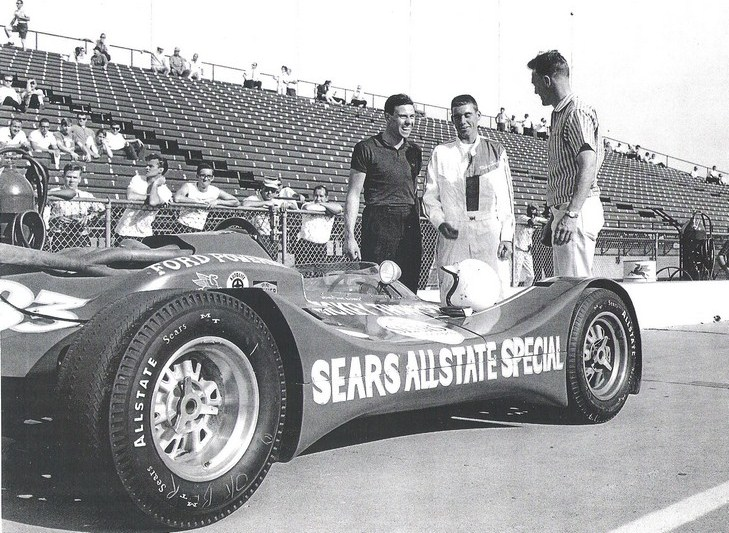 dave macdonald dan gurney jim clark at indy 1964
