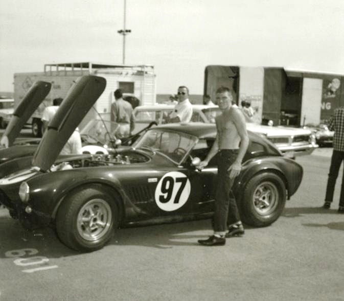 Dave MacDonald races the Cobra LeMans Hardtop at Continental Divide in 1963