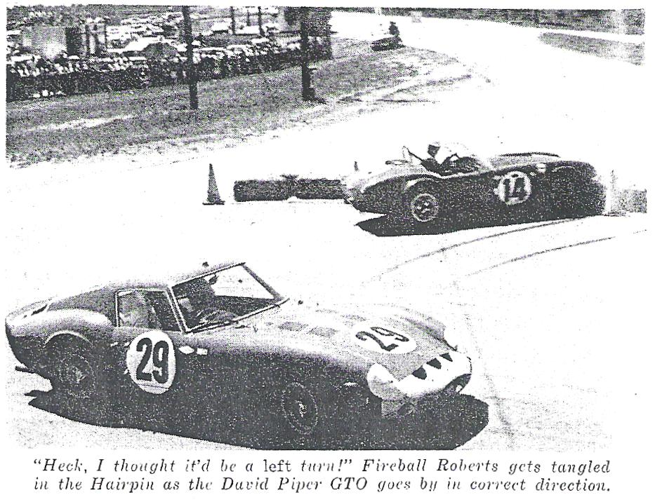 Dave MacDonald and Fireball Roberts co-drive the Shelby Cobra Roadster at the 12 HRS Sebring in 1963