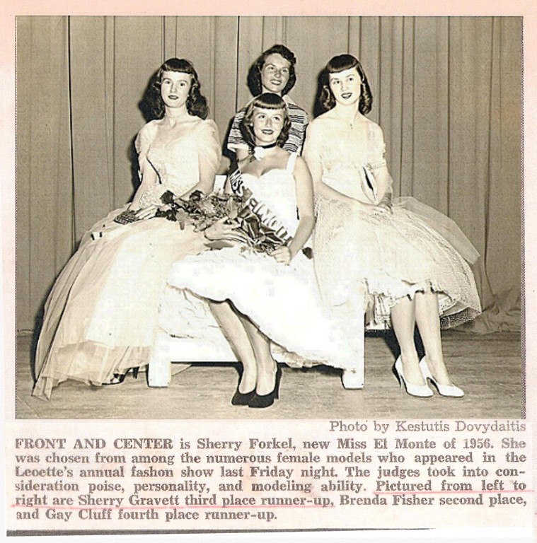 Dave MacDonald's wife Sherry runner-up in Miss El Monte contes