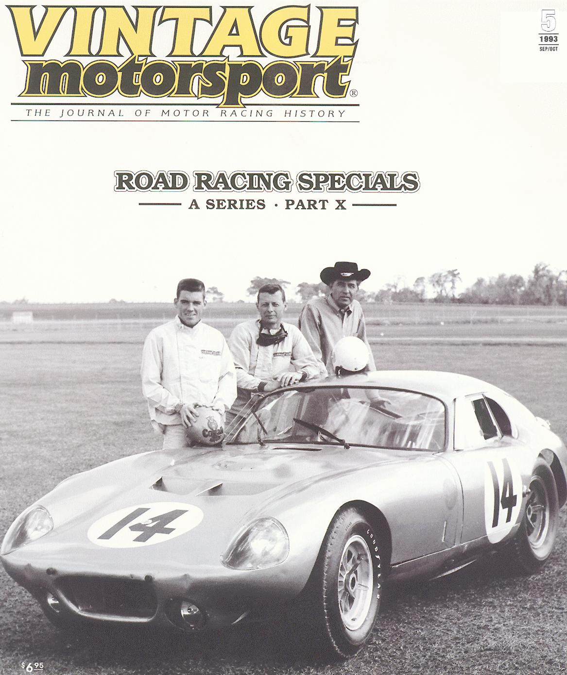 Racing Legend Dave MacDonald featured in 1993 Vintage Motorsport